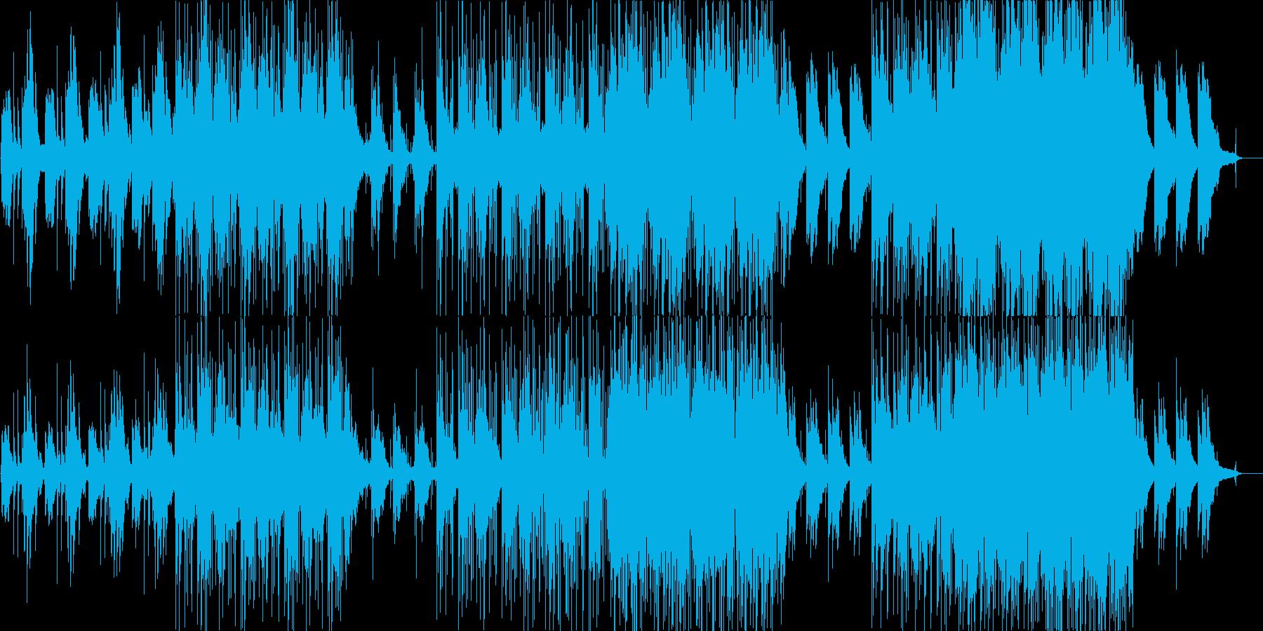 寂しげな雰囲気のエレクトロニカの再生済みの波形