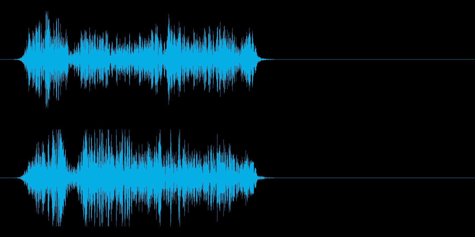 モンスターの雄叫び 2の再生済みの波形