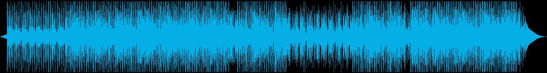 明るい企業のバックグラウンドミュージックの再生済みの波形