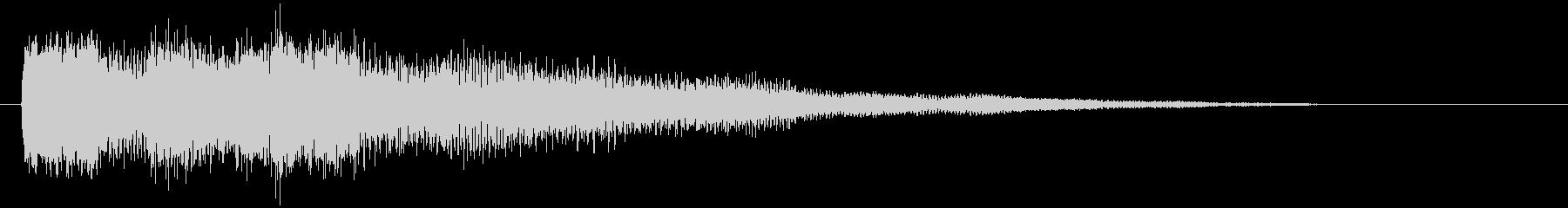ゲームオーバー・失敗 ギターのジングルの未再生の波形