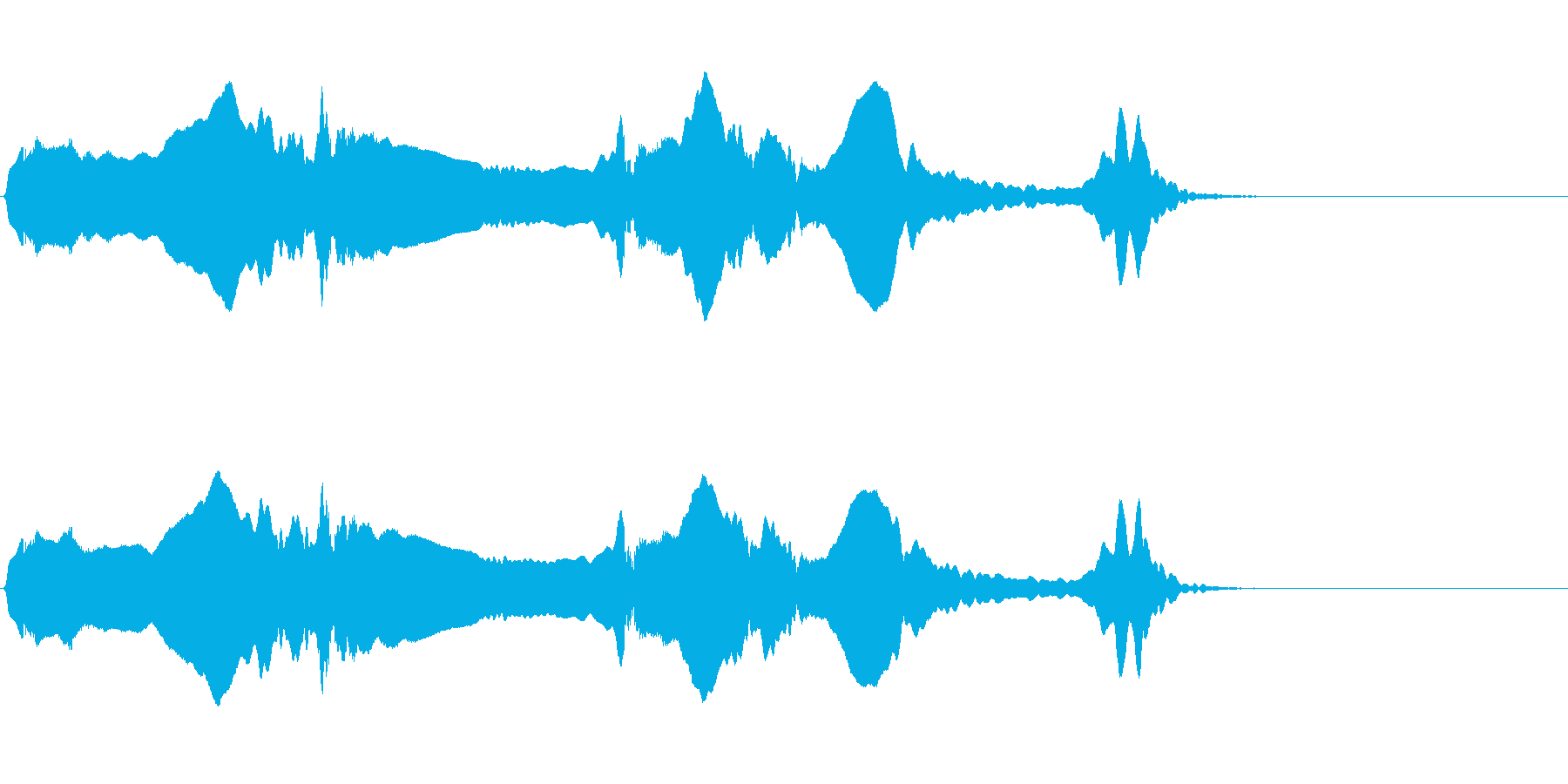 尺八 生演奏 古典風 残響音有 #14の再生済みの波形