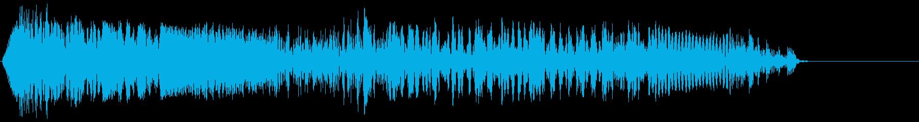 ゲーム掛け声男1叫び5の再生済みの波形