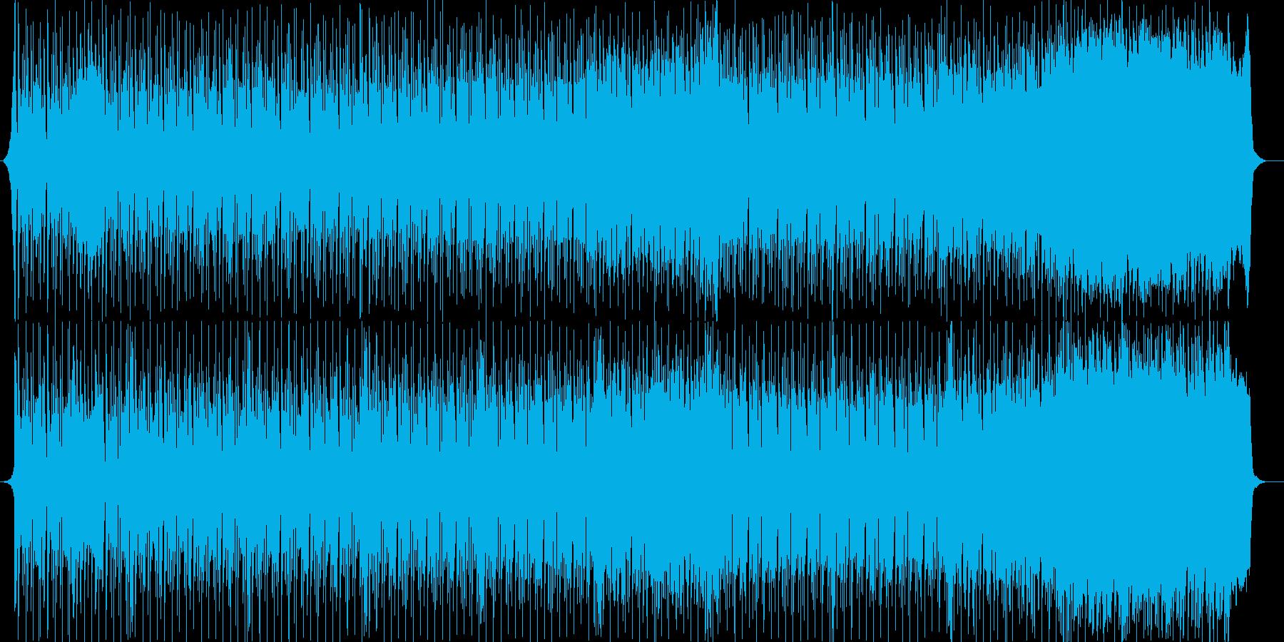 シンセサイザーの懐かしいポップな曲の再生済みの波形