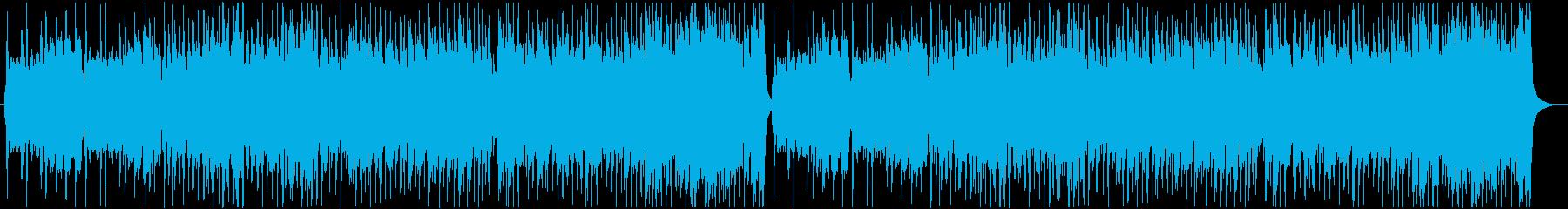 にぎやかなケルト曲の再生済みの波形