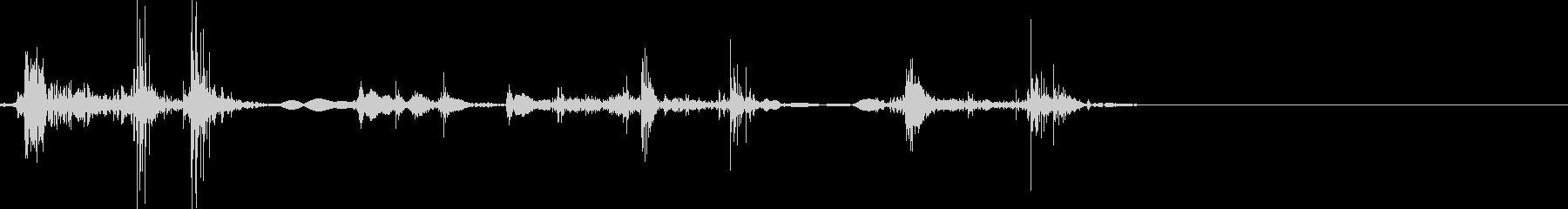 カチャカチャ 銃や金属系の装備音 入手音の未再生の波形