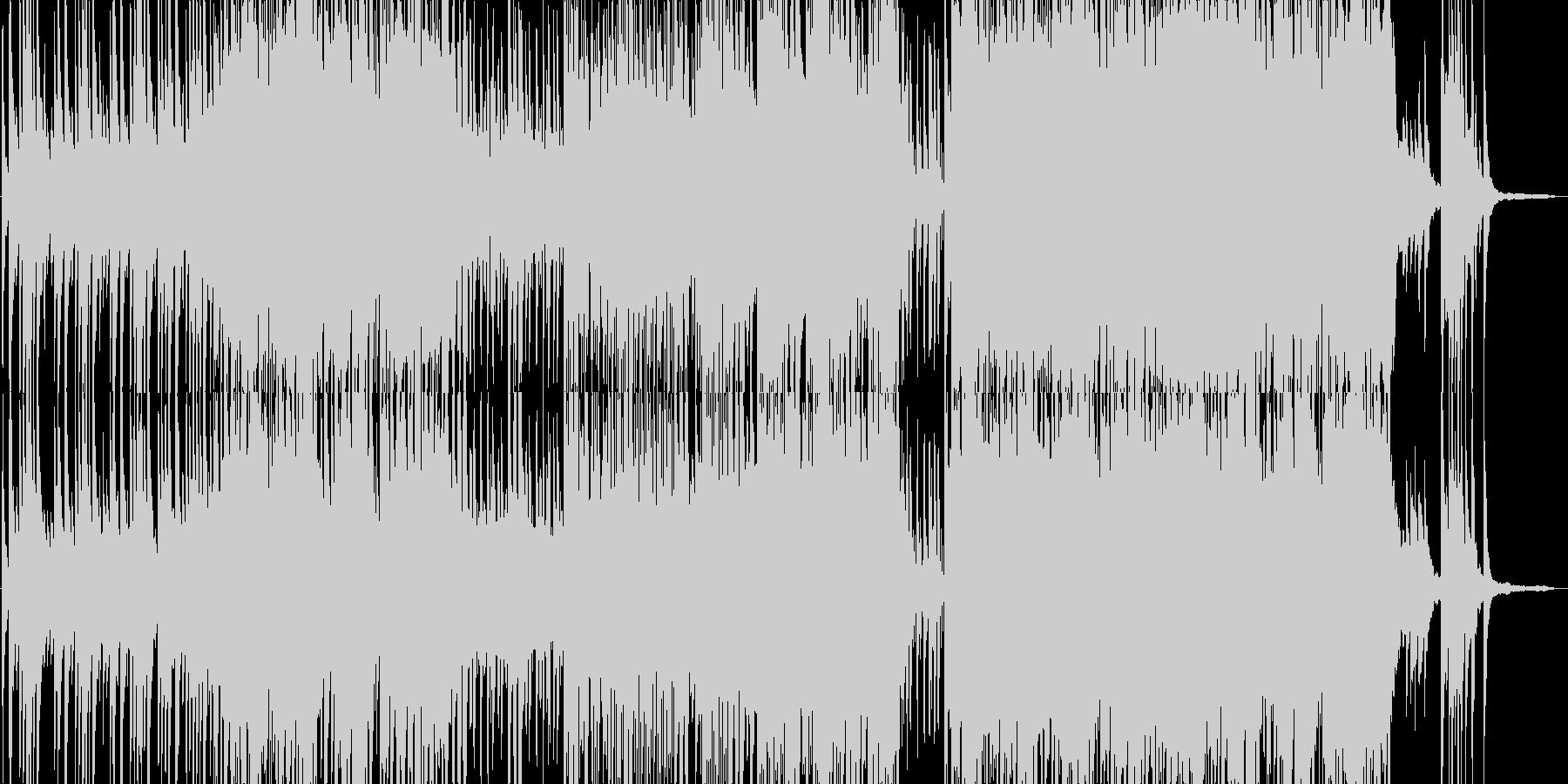 ちょっと変わった和風BGMの未再生の波形