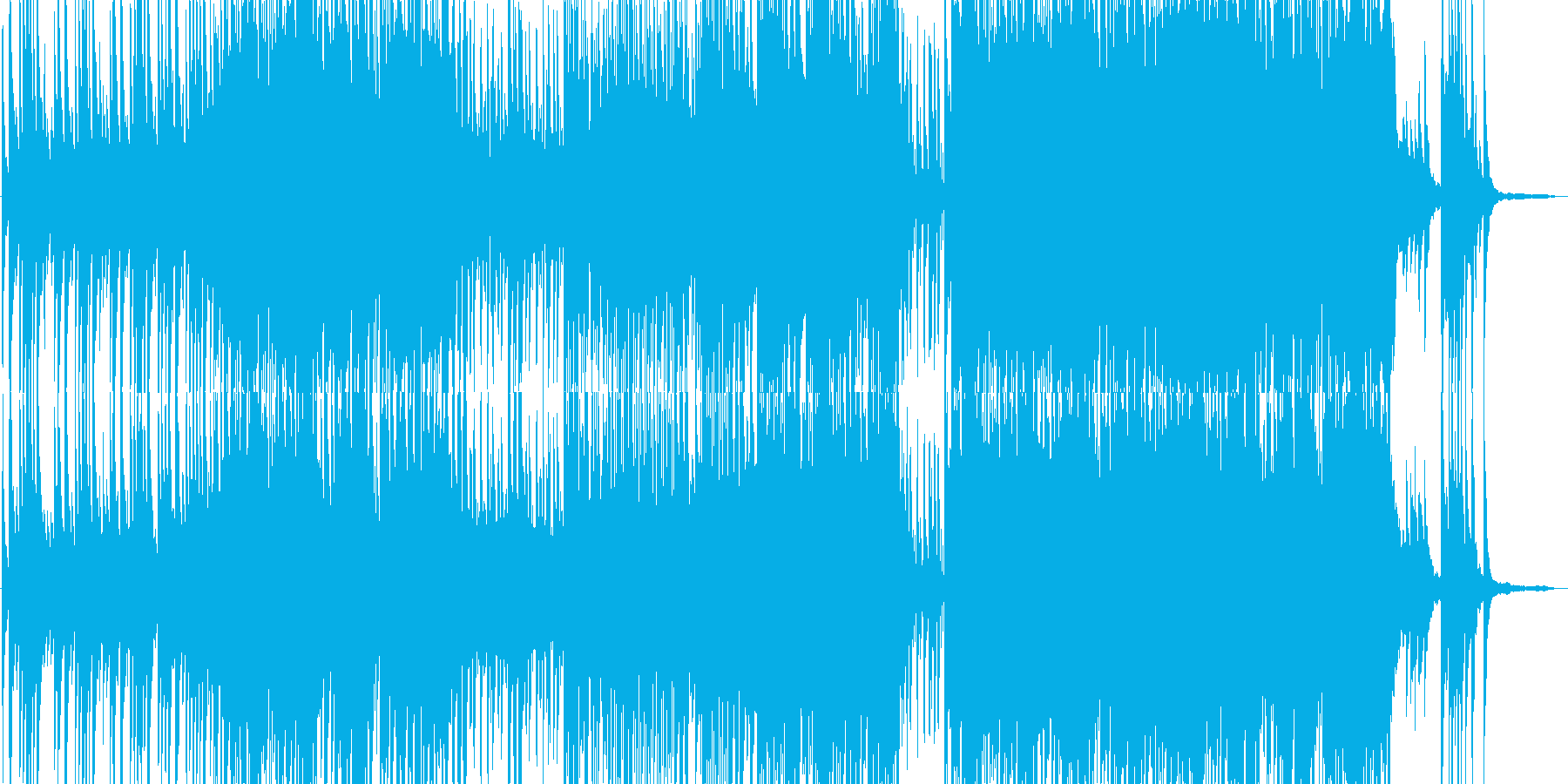 ちょっと変わった和風BGMの再生済みの波形