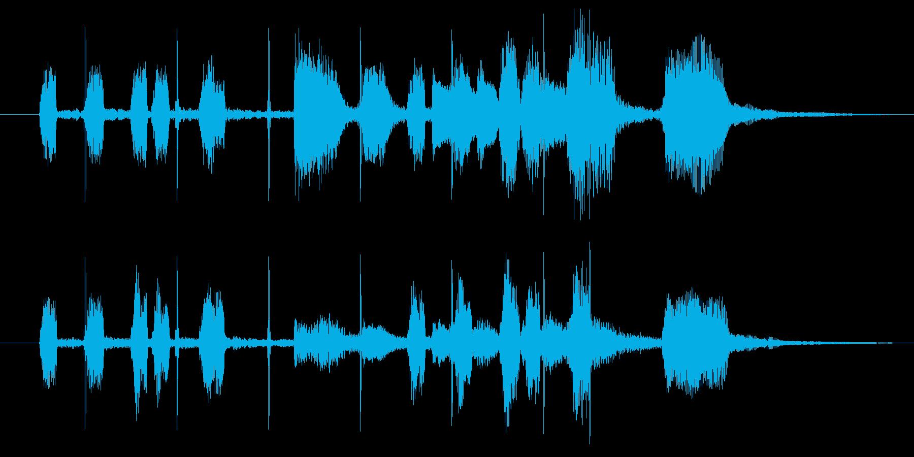 スキャット風のジングルの再生済みの波形