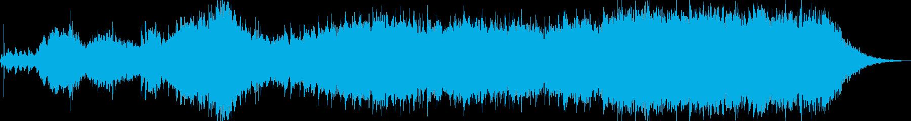 不気味な雰囲気のホラー曲の再生済みの波形
