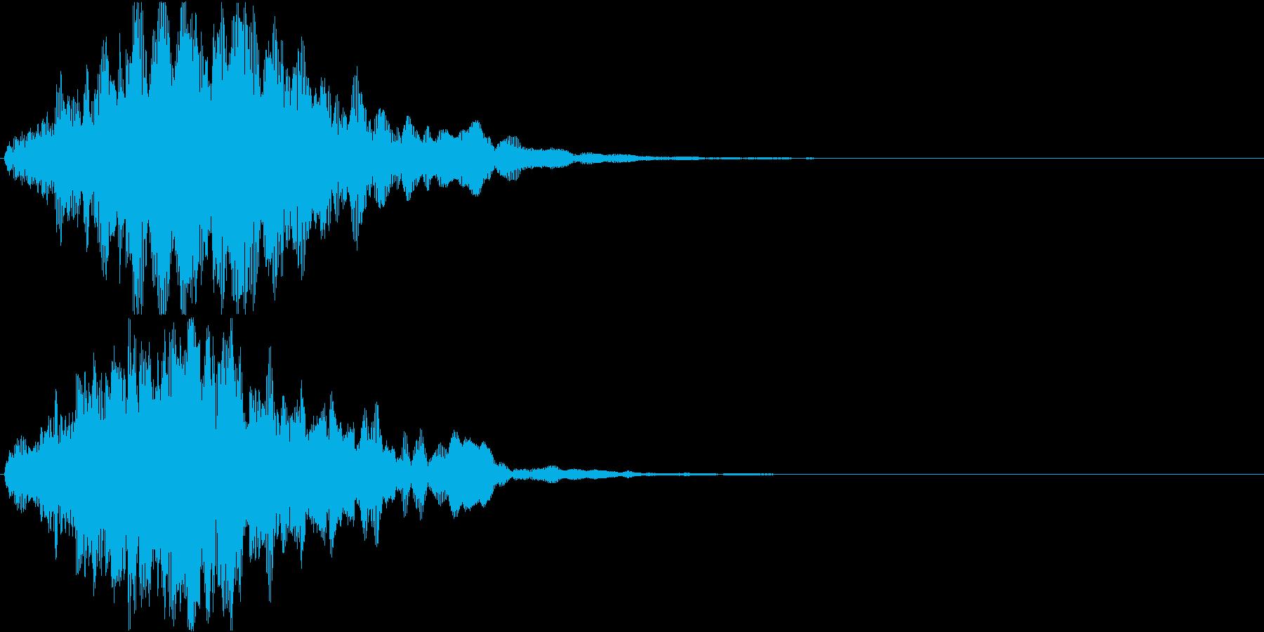 ウォーン↓(ホラーゲーム、ゾンビ)の再生済みの波形