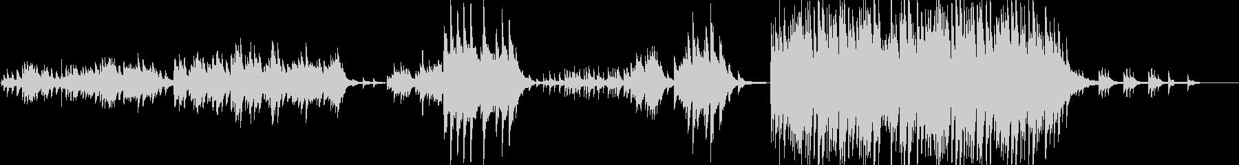 ノスタルジックで優しく切ないピアノソロの未再生の波形