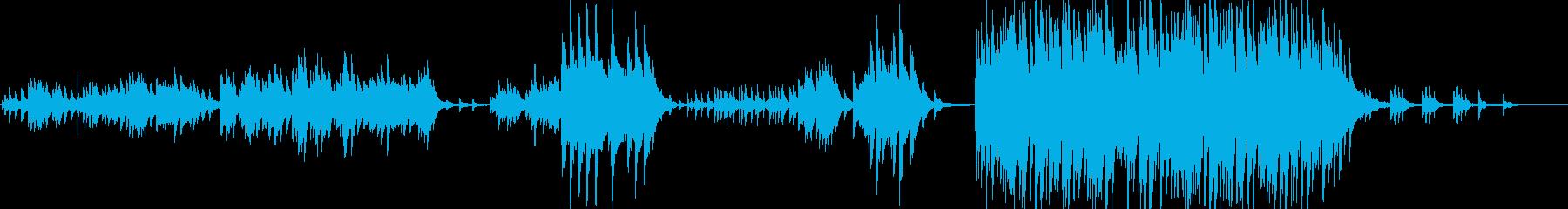 ノスタルジックで優しく切ないピアノソロの再生済みの波形