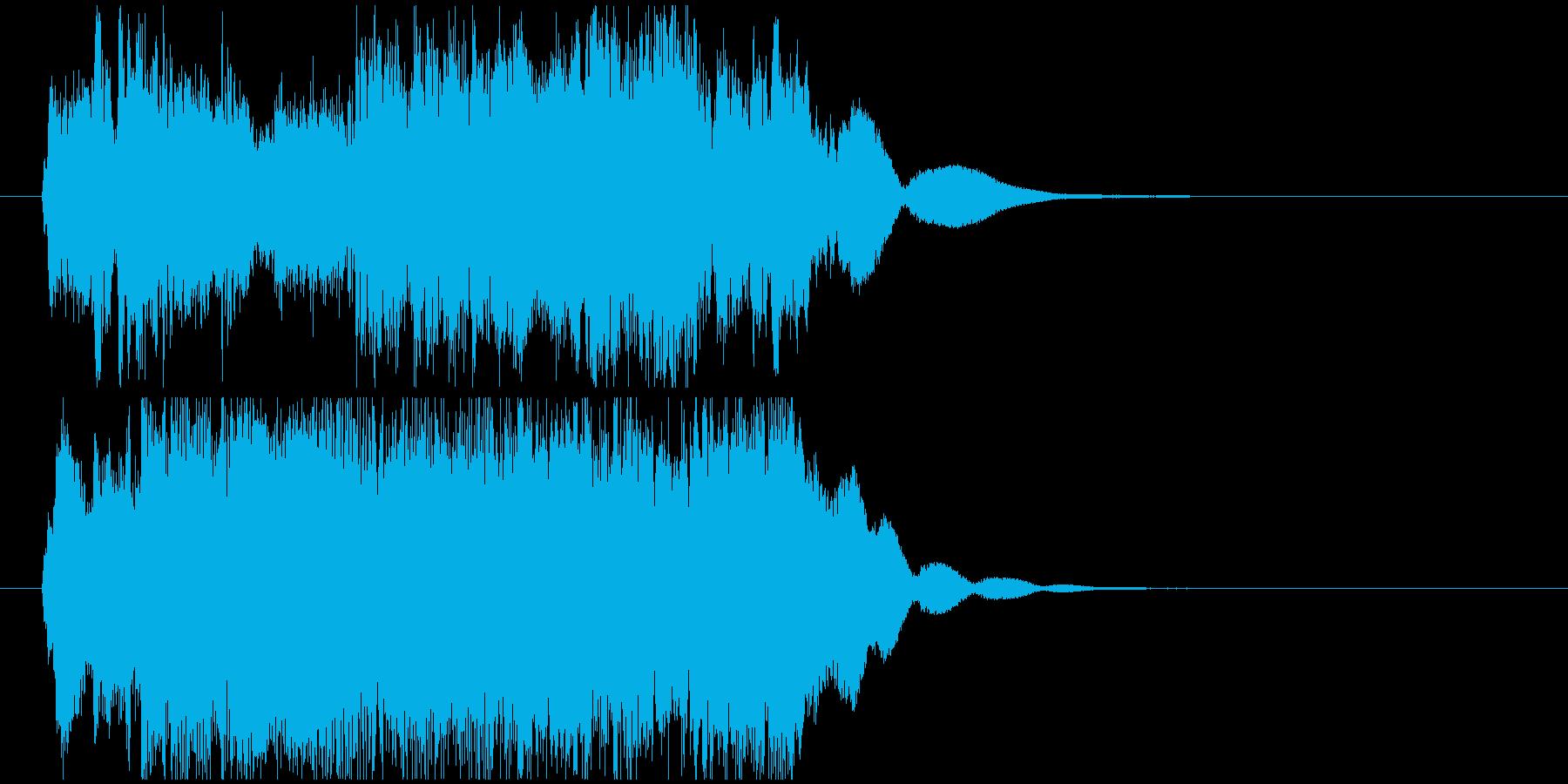 キラキラ登場音 (変身/妖精/魔法系)の再生済みの波形