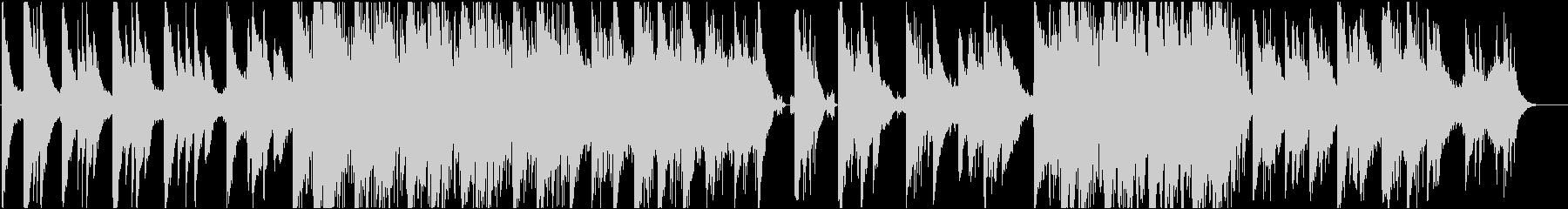 ピアノが印象的なインスタレーション音楽の未再生の波形