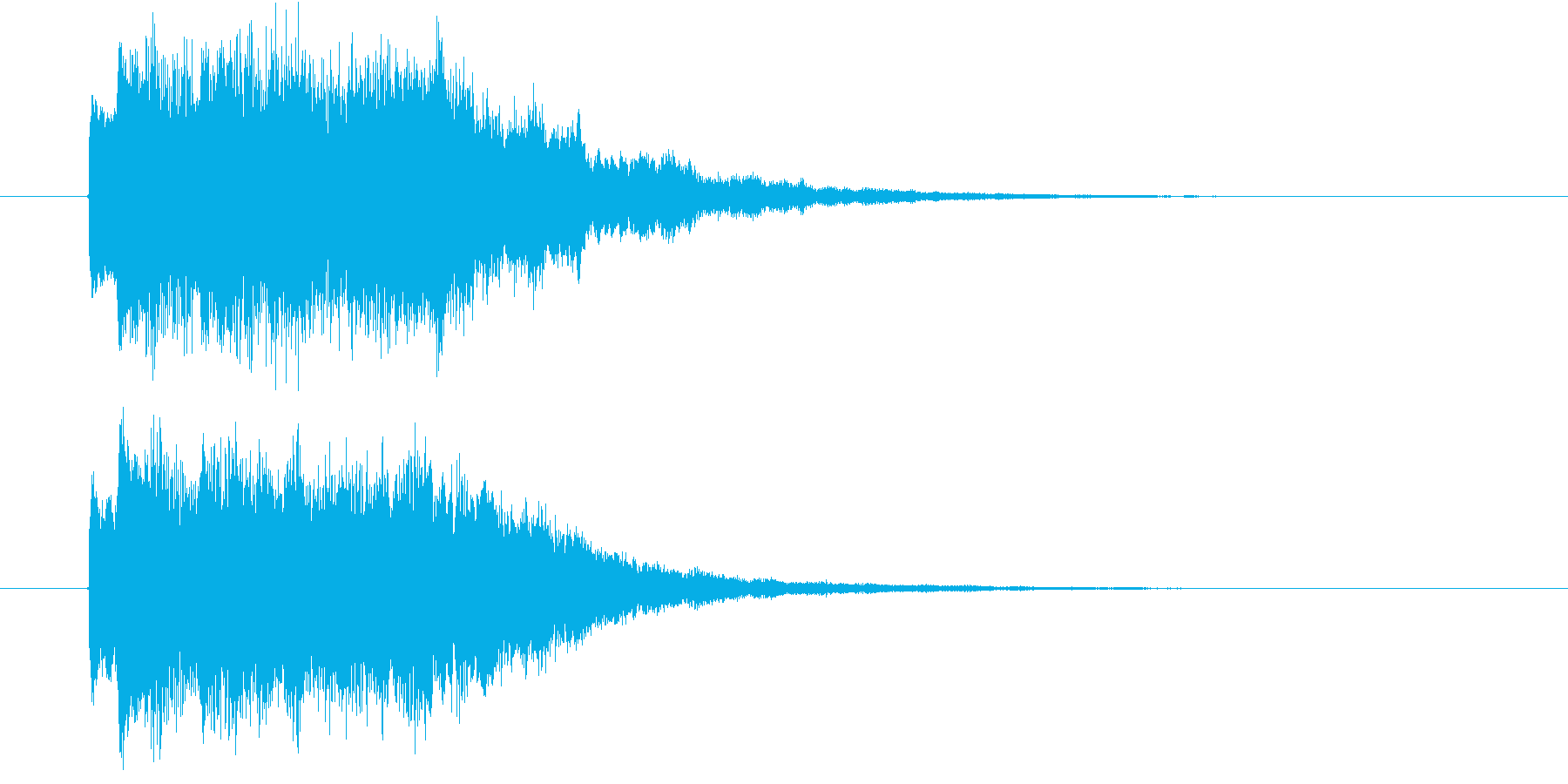 IT系効果音3の再生済みの波形