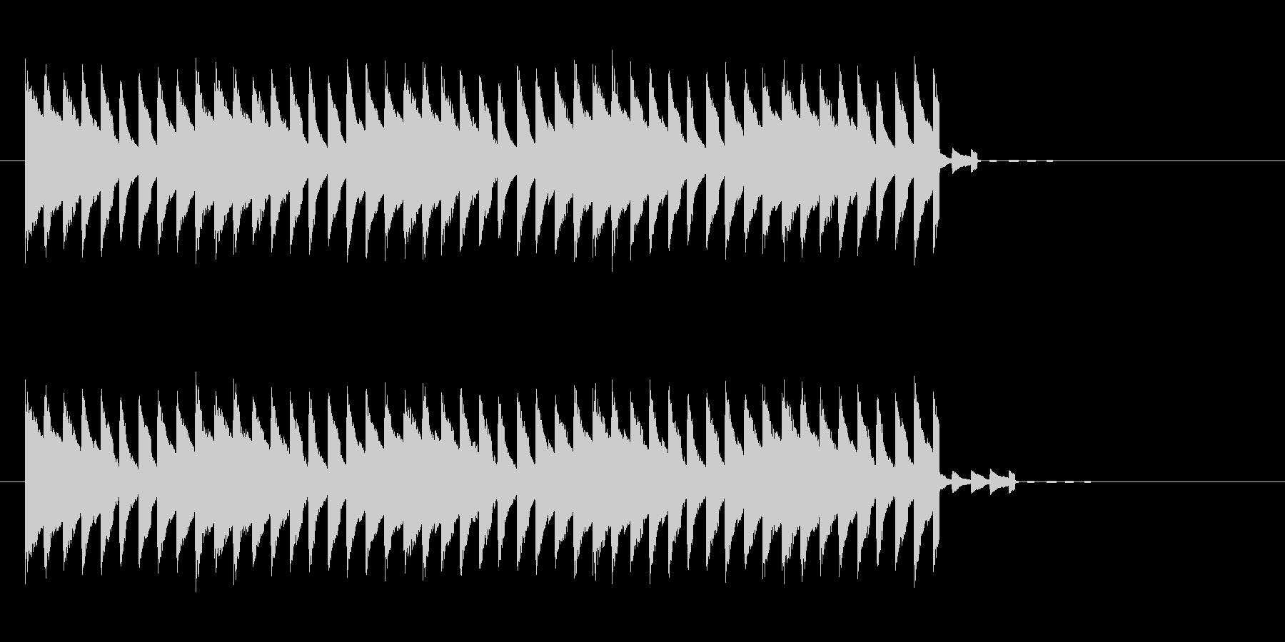電子的警報音ですの未再生の波形