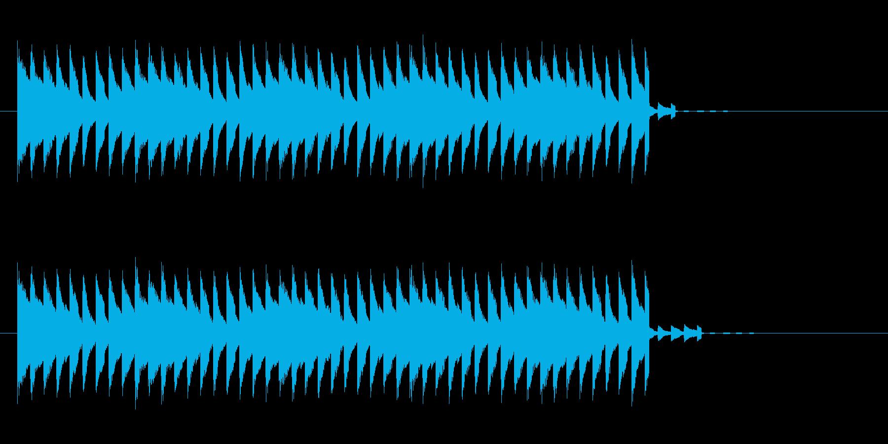電子的警報音ですの再生済みの波形