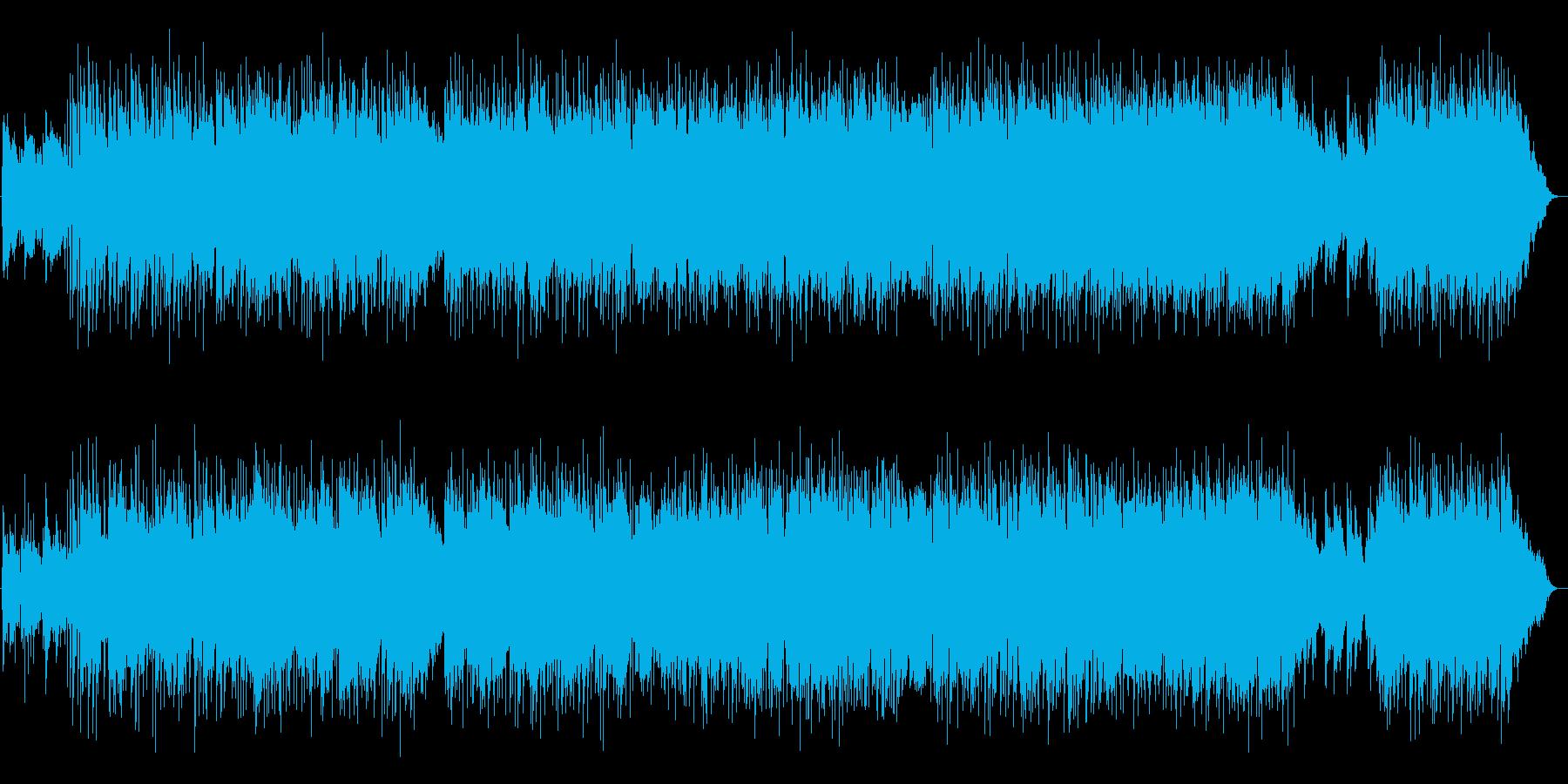 キラキラとしたアコギのイージーリスニングの再生済みの波形