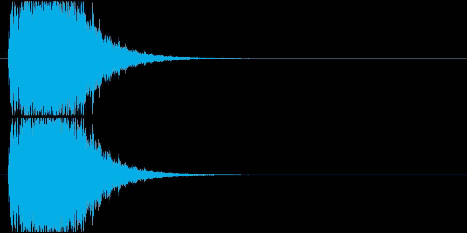 キラキラ魔法効果の再生済みの波形