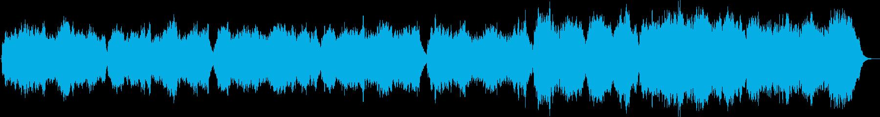 弦楽とハープシコードのバロックオリジナルの再生済みの波形