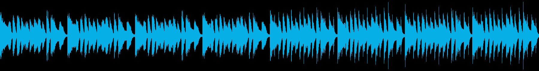 軽快なピアノループ曲の再生済みの波形