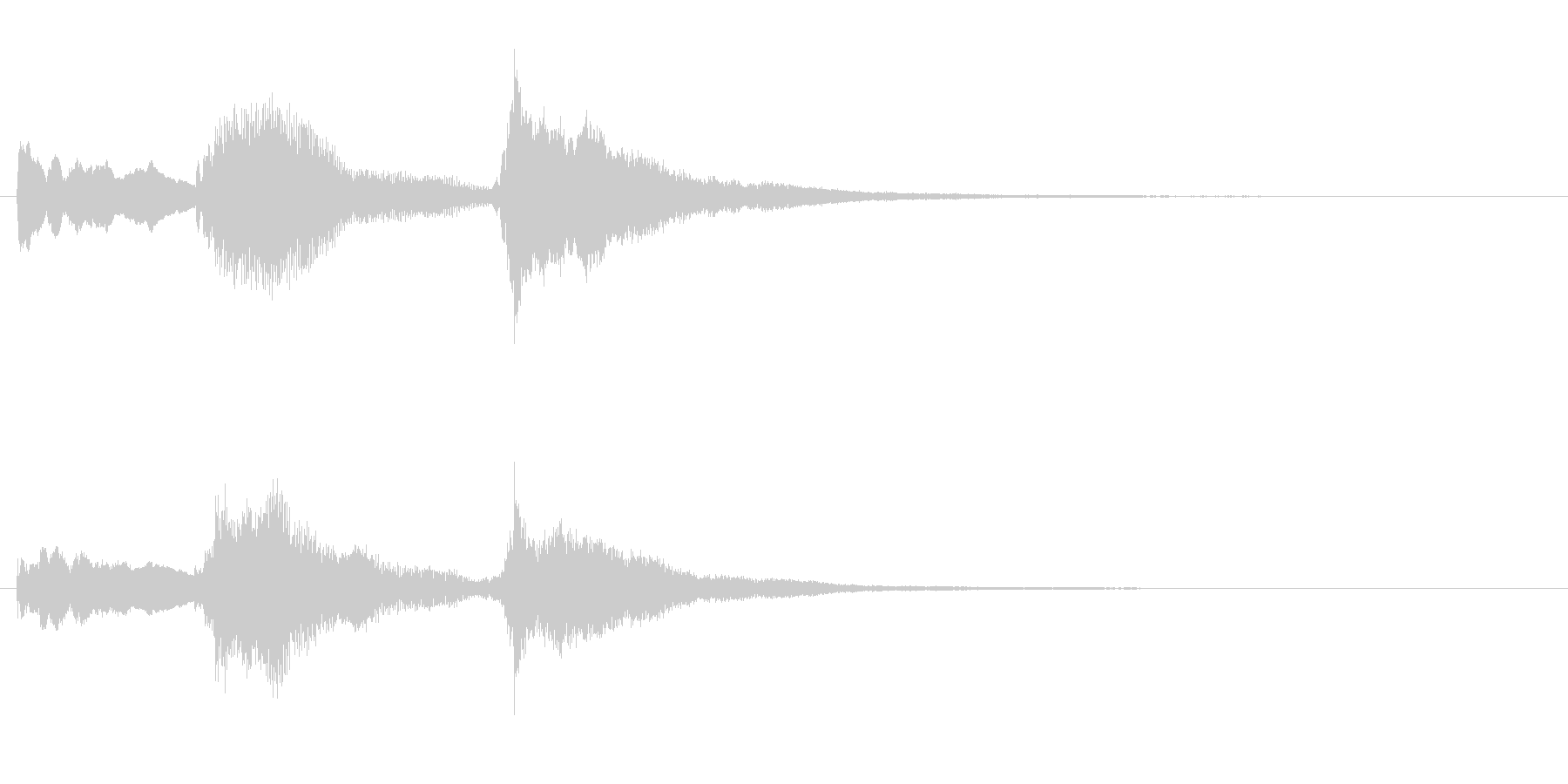 ピアノのホラーなジングル・場面転換の未再生の波形