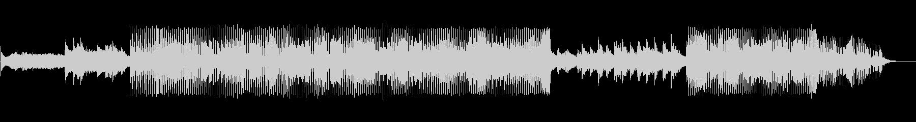 音数が少なくドライな四つ打ちの未再生の波形
