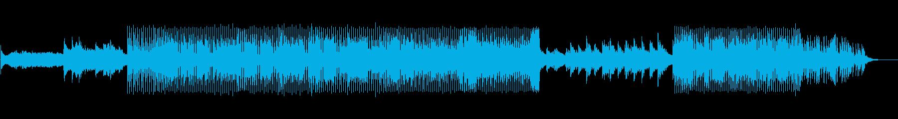 音数が少なくドライな四つ打ちの再生済みの波形
