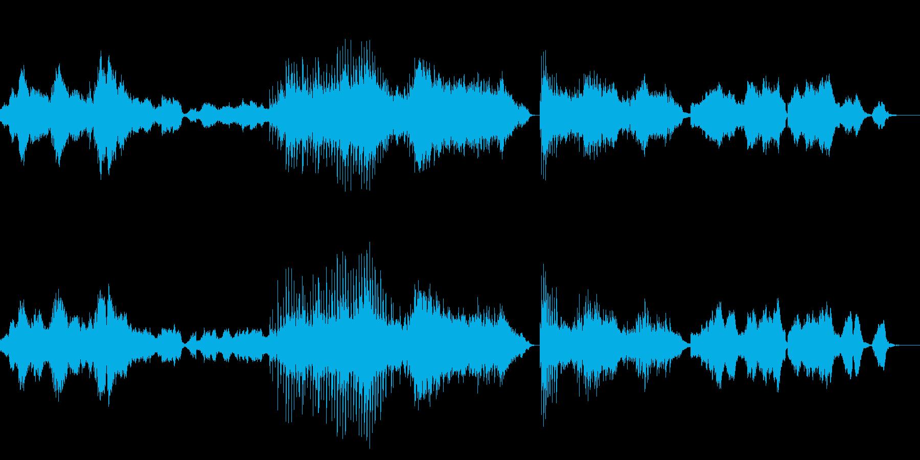 幻想的な世界観の音の再生済みの波形