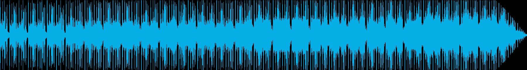 浮遊感のあるゆったりしたテクノの再生済みの波形