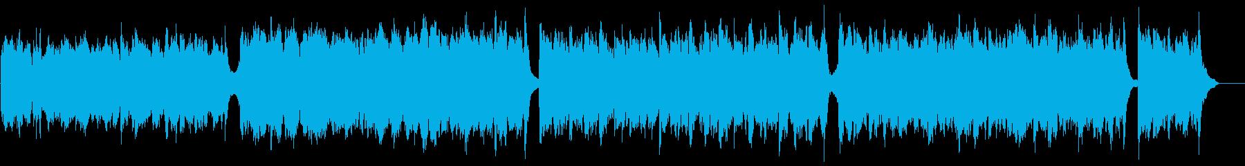 知的なシネマティックピアノ:Pfと低い弦の再生済みの波形