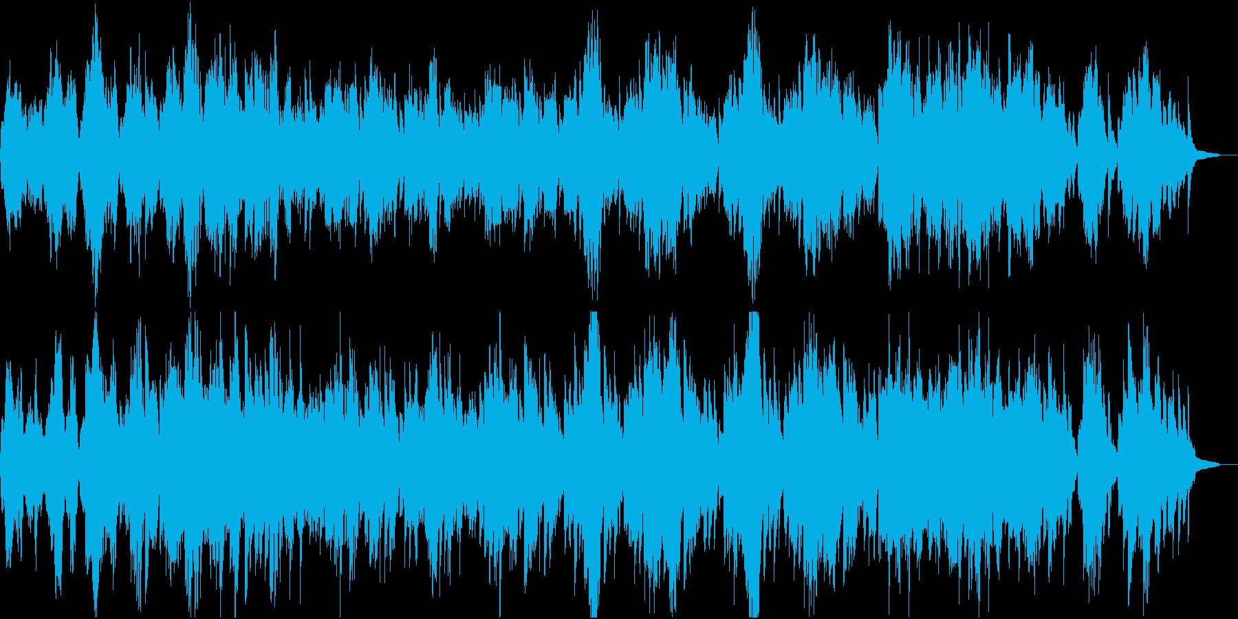 穏やかな物語の始まりを感じる曲の再生済みの波形