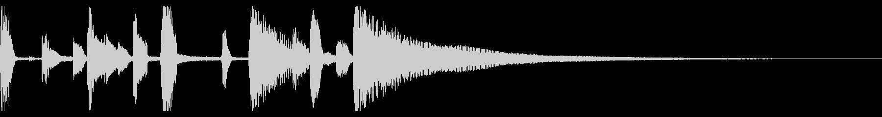おしゃれなジャズ ピアノ ジングル 01の未再生の波形