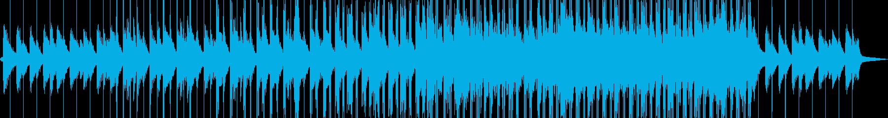 雨、チルアウト、ローファイ、ピアノの再生済みの波形
