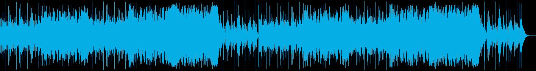 跳ねたリズムの和太鼓尺八バイオリンの再生済みの波形