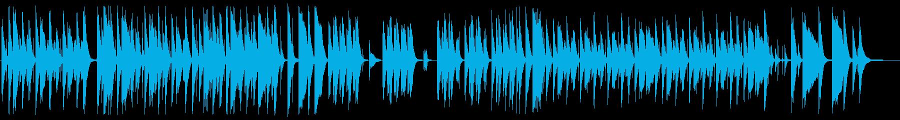 ピアノと木琴がかわいい日常系BGM の再生済みの波形