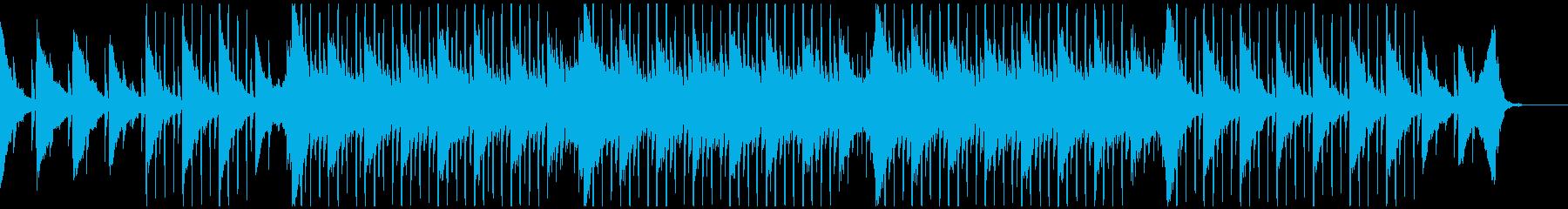 誠実な印象を与えるシンセ4つ打ちBGMの再生済みの波形