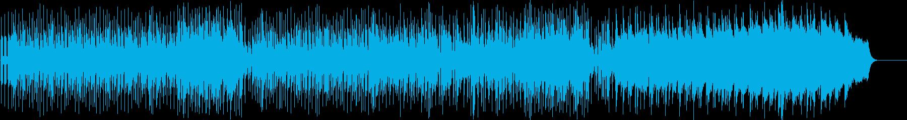 オリエンタルムードの変化のあるポップスの再生済みの波形