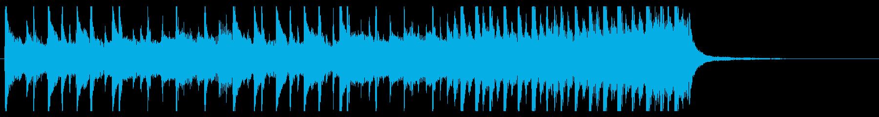 わくわくジングル スピードアップする展開の再生済みの波形