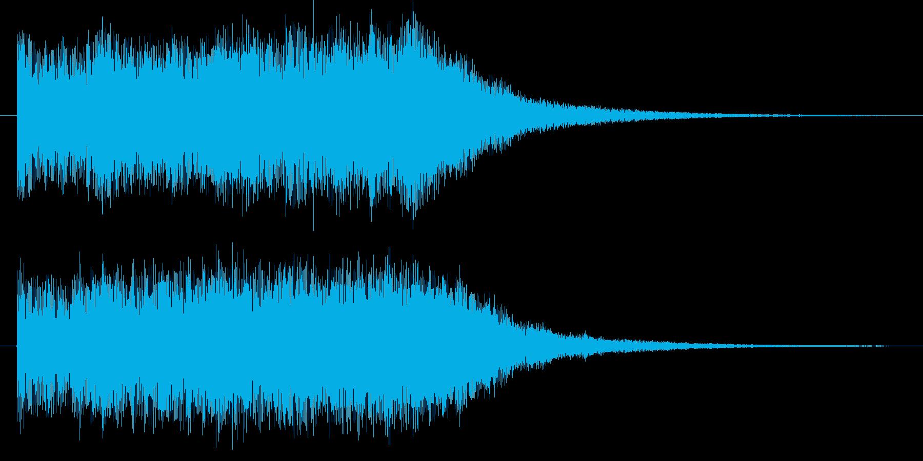 インスピレーショナルなロゴ・ジングルの再生済みの波形