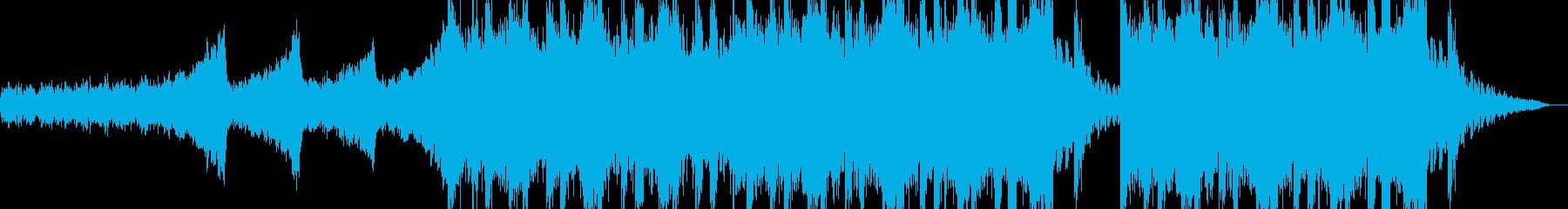 激しいアクション向けオーケストラの再生済みの波形