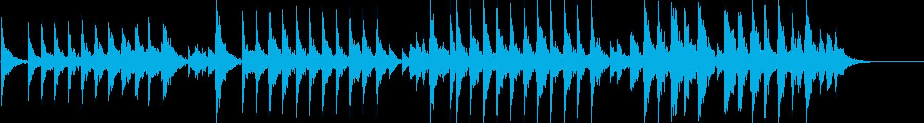 童謡「夕焼け小焼け」オルゴールbpm86の再生済みの波形