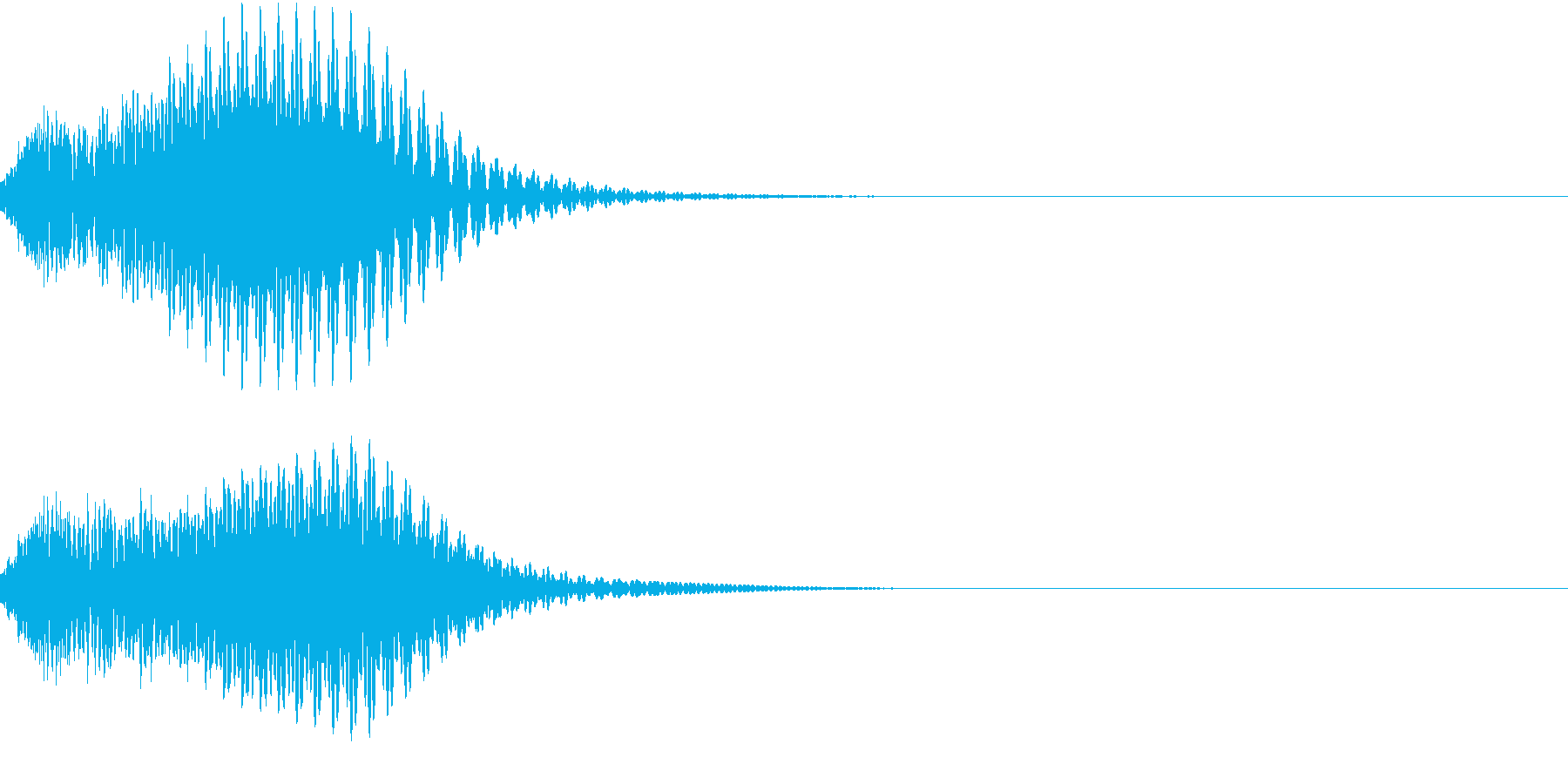 キュイン 光 ピカーン フラッシュ 08の再生済みの波形