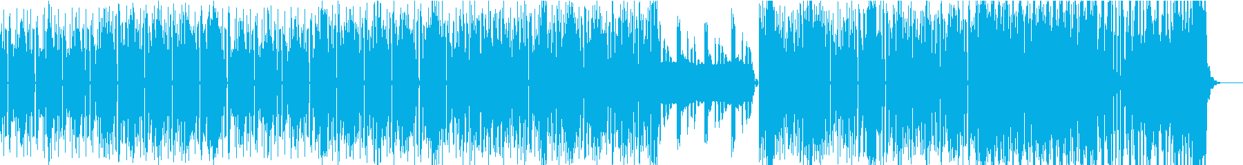 おしゃれなテクノポップBGMの再生済みの波形