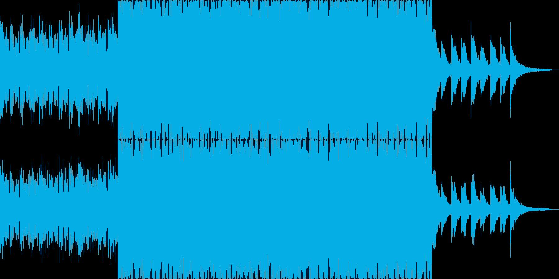 切ないミドルテンポなEDMの再生済みの波形