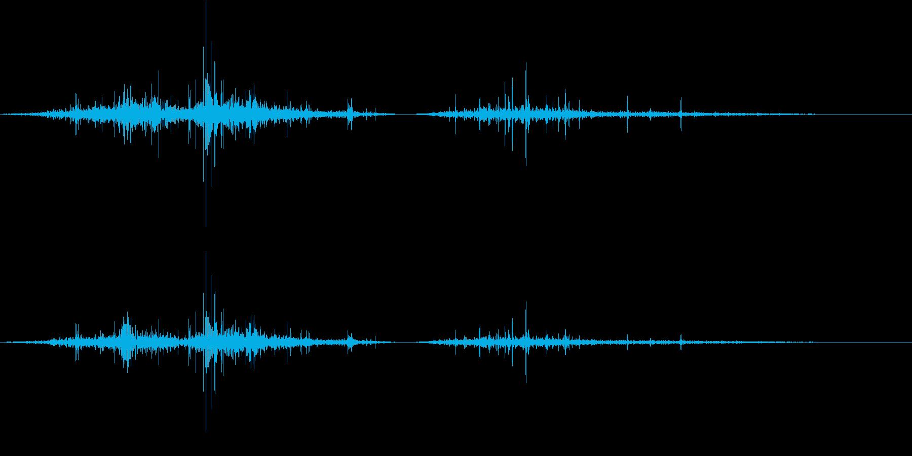 【生録音】布団を剥がす音 1の再生済みの波形