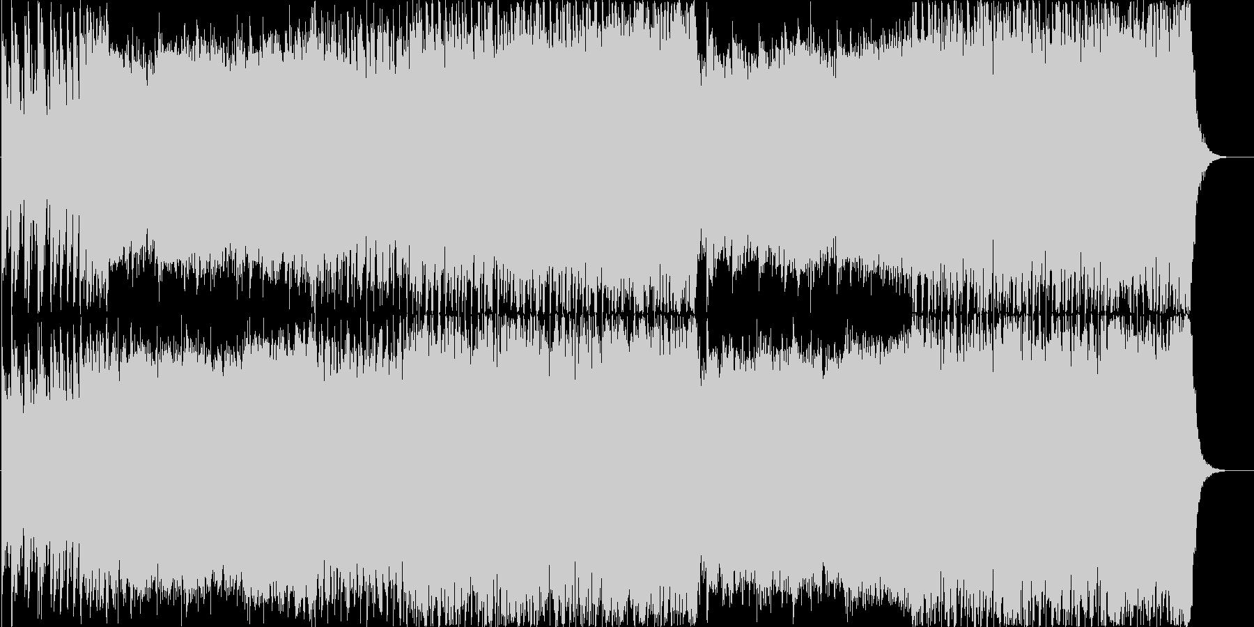 迫力のデジタルロックオーケストラの未再生の波形