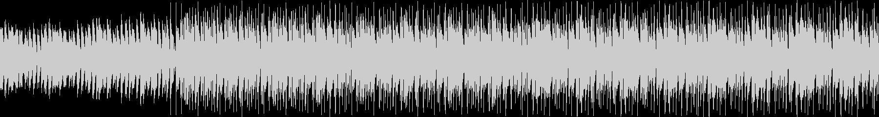ピアノとキーボードの切ないループ曲の未再生の波形