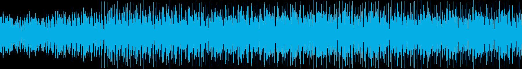 ピアノとキーボードの切ないループ曲の再生済みの波形