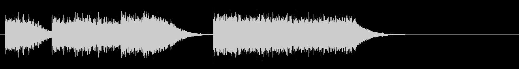 レトロゲームファンファーレ/短い軽い10の未再生の波形